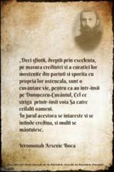 Arsenie Boca - citat MARIT